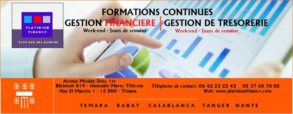 FORMATIONS METIERS – GESTION DE TRESORERIE –GESTION FINANCIERE
