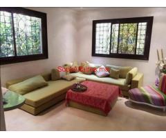 location  LD villa joliment meublée