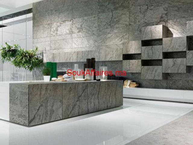 Vente feuille de pierre décorative