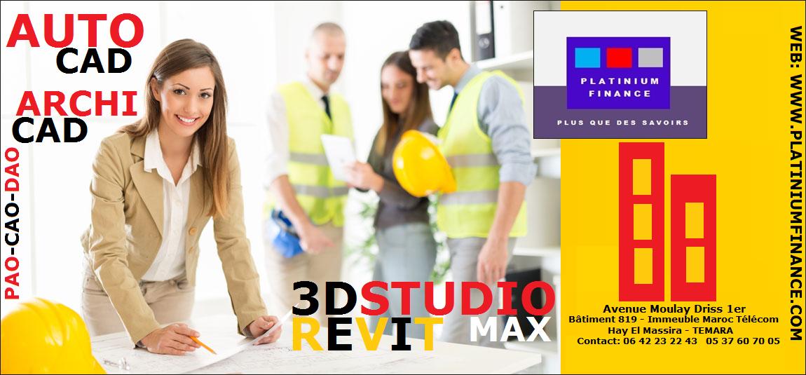 FORMATIONS PRATIQUES – AUTO CAD – ARCHI CAD – SDSMAX – REVIT