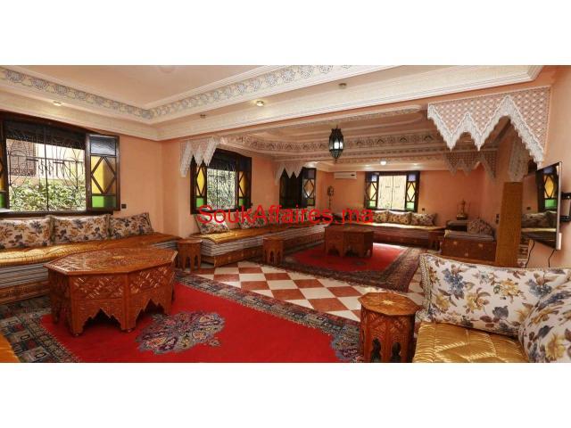 à louer belle villa meublée avec piscine à marrakech