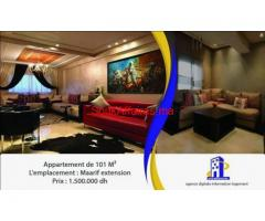 Chic appartement de 101 m2 à Maarif