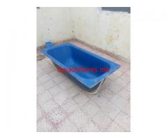 baignoire bleu bon etat
