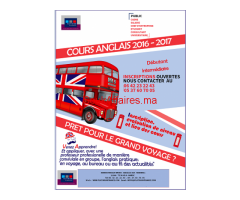 COURS D'ANGLAIS intensif INDIVIDUEL-GROUPE