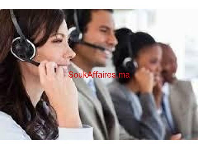 Centre d'appel pour homme--femme Francophone arabphone