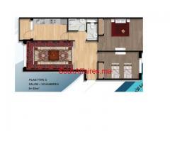 Joli Appartement de 77 m2 à Bouznika