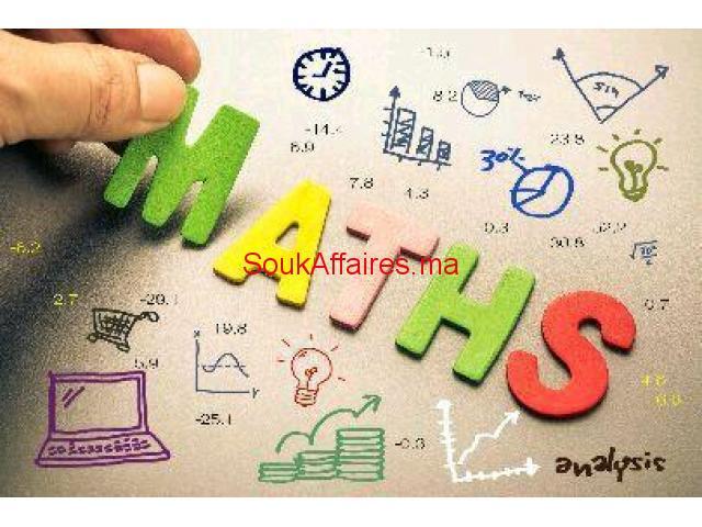 prof de maths à domicile (Ar ou Fr)