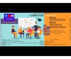 Métier D'EDUCATEUR, Métier de DIRECTION & D'ADMINISTRATION