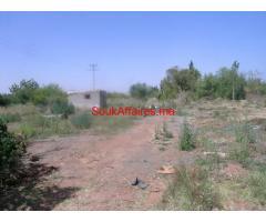 Terrain constructible 1 ha à vendre route de l'ourika