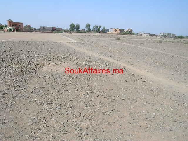 Terrain 6 ha  6 parcelles de 1 ha à vendre km 19 route de l'ourika