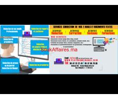 SERVICES - Rédaction, correction et pagination de documentation texte