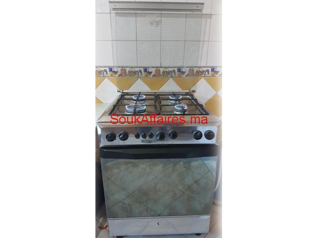 cuisinière 4 feux inox avec four sierra
