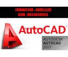 Formation en AUTOCAD 2D et  3D à domicile ou en grp